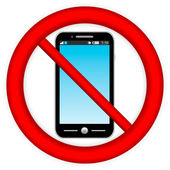 No phone vector sign — Stock Vector