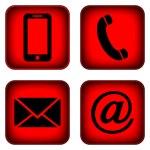 Contact buttons set. — Stock Vector #43821921