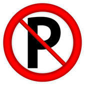 No parking sign icon — Stock Vector
