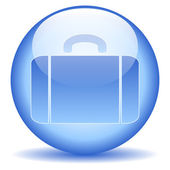 Portefeuille knop — Stockvector