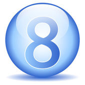 Number eight button — Stockvector