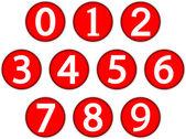 Numbers set — Stock Vector