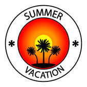 Summer vacation stamp — Stock Vector