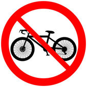 No bicycle sign icon — Stock Vector