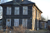 Farmhouse in the village of Ust-Slavyanka, Russia. — Stock Photo