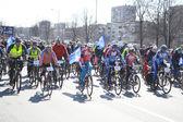 Cycle race on street of St.Petersburg — Photo
