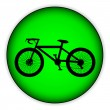 Bicycle icon on round internet button — Stock Vector #45154685