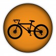 Bicycle icon on round internet button — Stock Vector #45154687