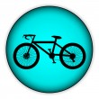 Bicycle icon on round internet button — Stock Vector #45154689