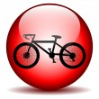 Bicycle icon on round internet button — Stock Vector #45154697