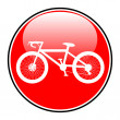 Bicycle icon on round internet button — Stock Vector #45154707