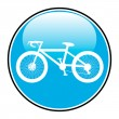Bicycle icon on round internet button — Stock Vector #45154713