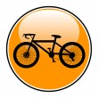 Bicycle icon on round internet button — Stock Vector #45154717
