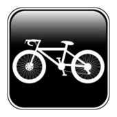 Bicycle icon on square internet button — Stock Vector
