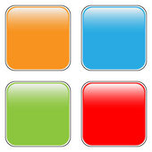 Blank buttons set — Stock Vector