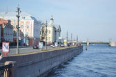 University Embankment in St.Petersburg — Stok fotoğraf
