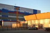 Modern building of Obukhov plant — Stock Photo