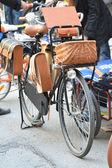 "Parked bikes. Velofestival ""VelikiDen"" at Loft Project Etagi. — Stock Photo"