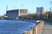 набережная невы, пригороде санкт-петербурга. — Стоковое фото
