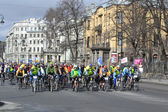Cycle race on street of St.Petersburg — Photo