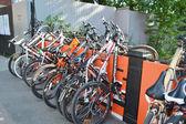 "Parked bikes. Festival ""For velogorod"". — Стоковое фото"