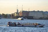 Pleasure boat on the river Neva — Stok fotoğraf