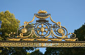 Detail of gilded lattice of Summer Garden — Stock Photo