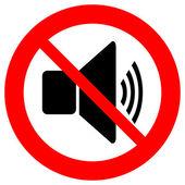 No volume icon — Stock Vector
