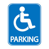Handicapped parking sign — Stock Vector
