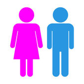 Male and Female icons — Stock Vector