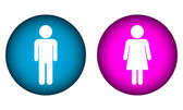 Male and Female buttons — Stock Vector