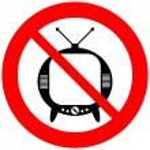No TV sign — Stock Vector #46745429