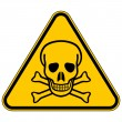 Deadly danger sign — Stock Vector #46757335