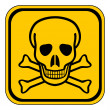 Deadly danger sign — Stock Vector #46757339