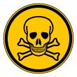 Deadly danger sign — Stock Vector #46757341