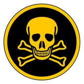 Deadly danger sign — Stock Vector