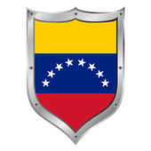 Venezuela flag button. — Stock Vector