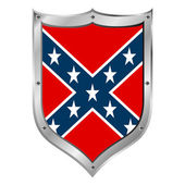 The Confederate flag button — Stock Vector