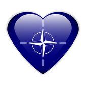 NATO flag button — Stock Vector