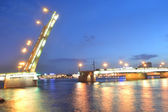 Liteyny Bridge at night — Stock Photo