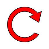 Repita o ícone de sinal — Vetor de Stock