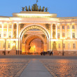 Arch of the General Staff at night — Stock Photo #48063231