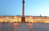 Palace Square at white night — Stock Photo