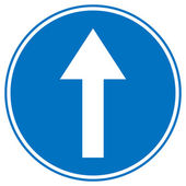 Road sign straight — Vector de stock
