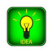 Žárovku tlačítko — Stock vektor