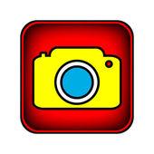 Camera button — Stock Vector
