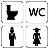 WC icons — Vecteur