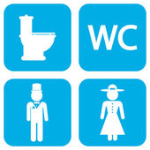 WC icons — Stock Vector
