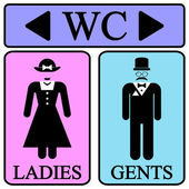 Male and female restroom symbol icons — Stok Vektör