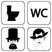 Male and female restroom symbol icons — Stock Vector